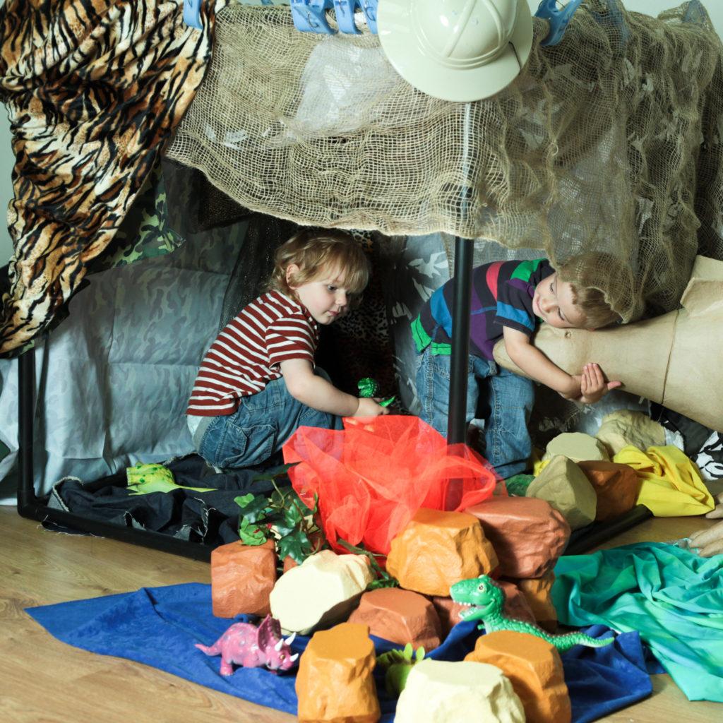 building a dinosaur den