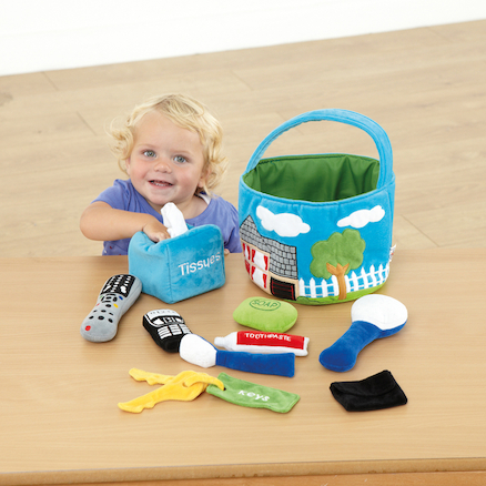 Soft Role Play Basket of Everyday Objects