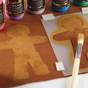 Creative Christmas felt gingerbread man