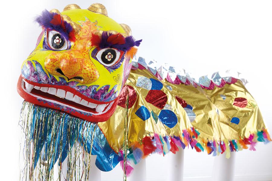 Chinese Dragon dance cny