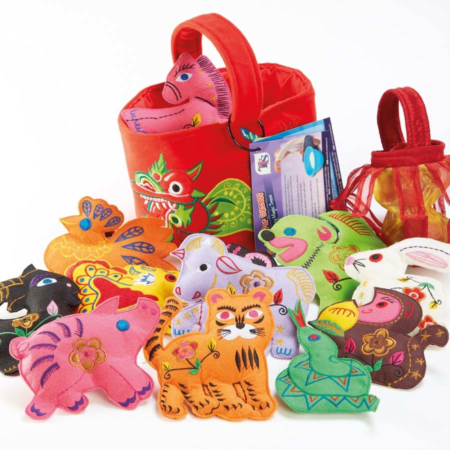 Chinese new year festival basket