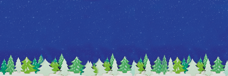 Night Sky christmas scene