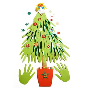 Rainbow card Christmas Tree