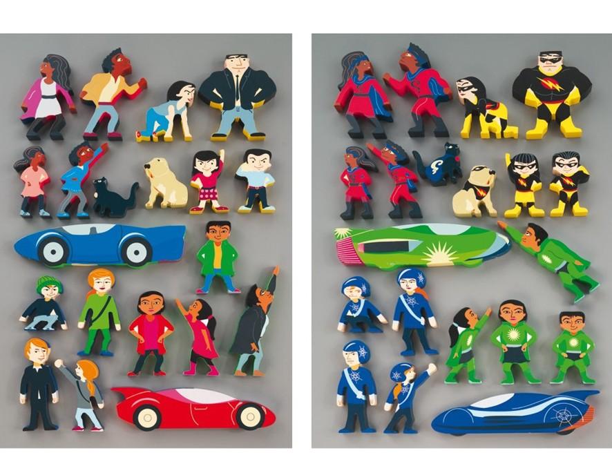 Wooden Superheros