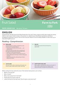 Fruit Salad Lesson Plan