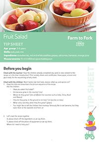 Fruit Salad Tip sheet