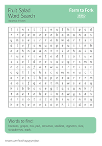 Fruit Salad Word Search