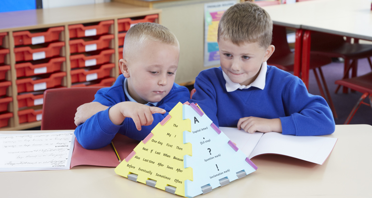 Encouraging the development of grammar and punctuation skills to improve children's own writing.