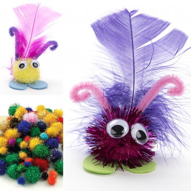 pom pom critters by Lottie Makes