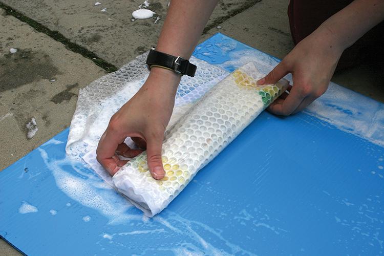 wet felting step 6