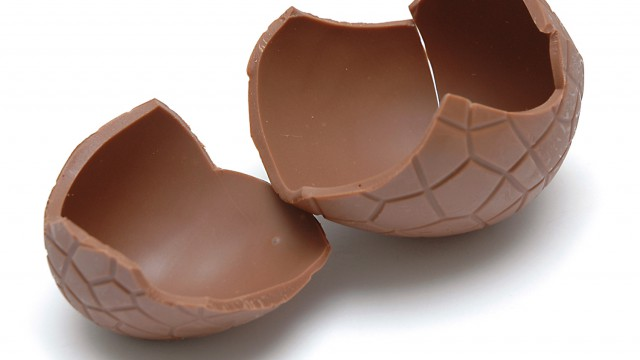 Gigantic Chocolate Egg (Cracked)