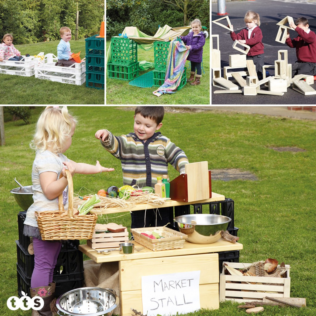 crate outdoor creative play