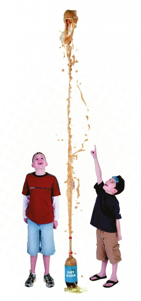 Mentos rocket science experiment