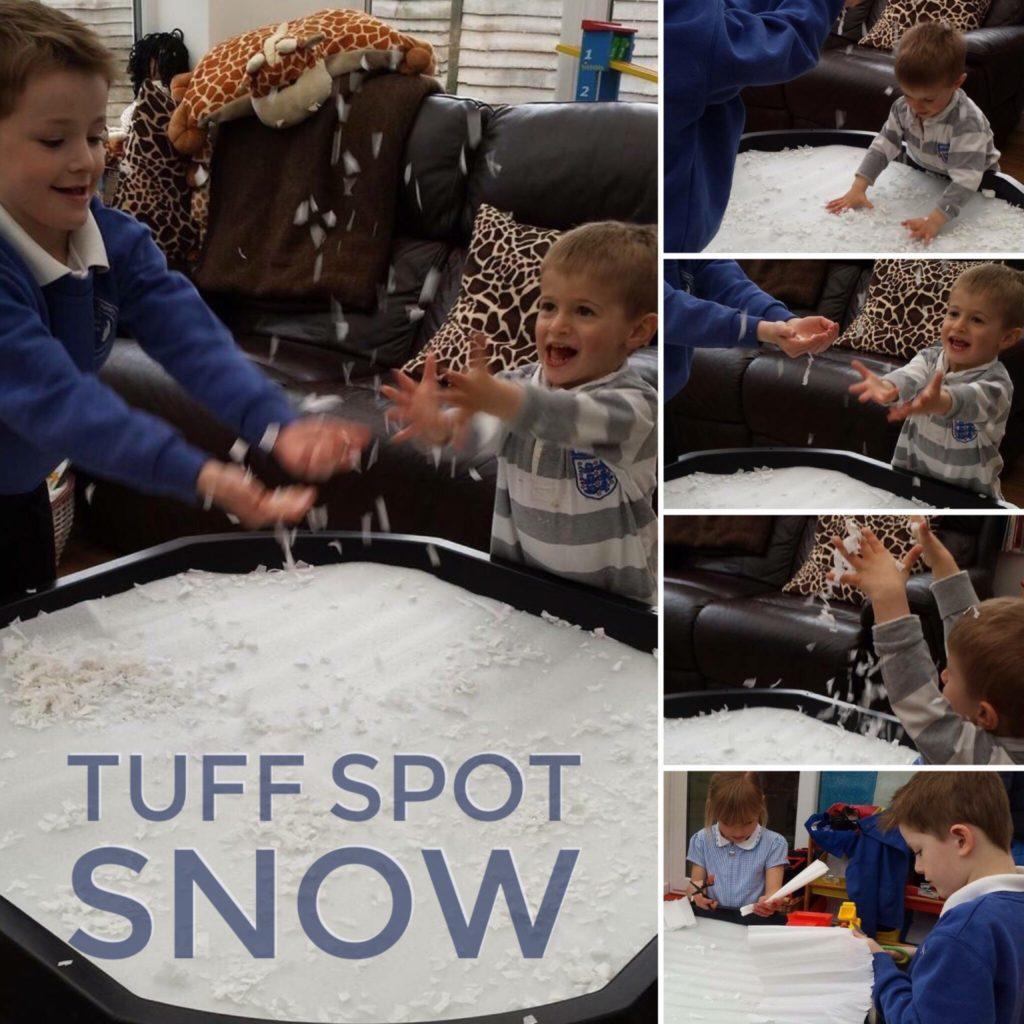 Snow filled tuff spot
