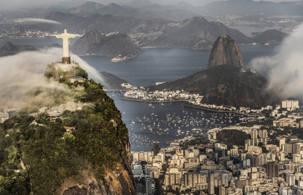 Beautiful Rio de Janeiro with Christ and the Sugarloaf Mountain