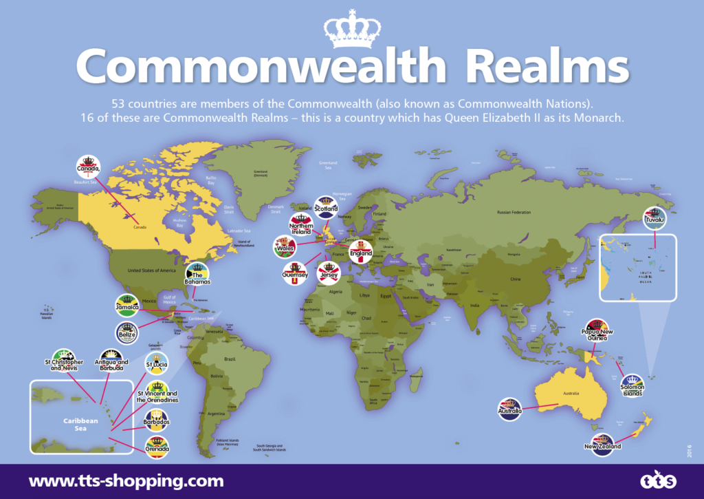 Commonwealth Realm map
