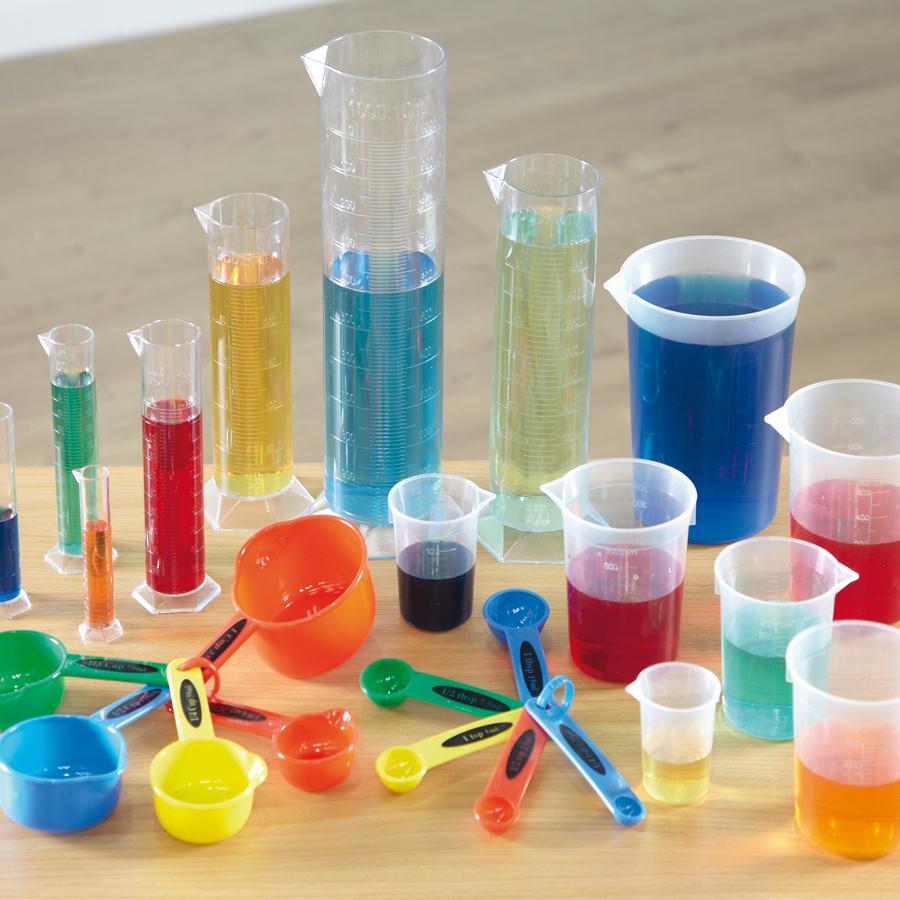 Measuring beakers, cylinders and jugs