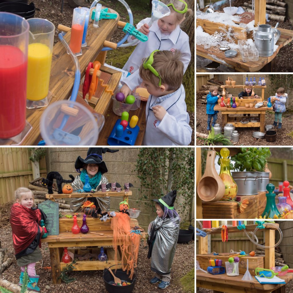 Potions and Concoctions - mud kitchen