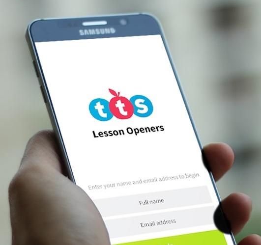 TTS inspire Lesson Opener app
