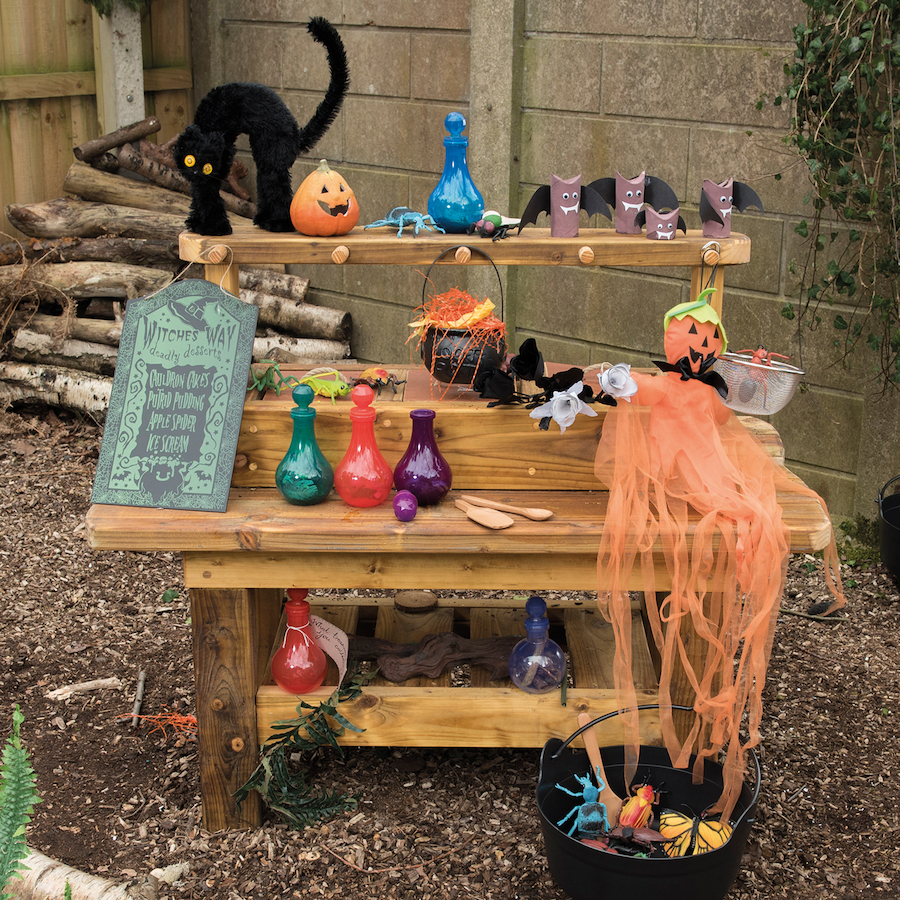 Outdoor Wooden Messy Concoctions Bench