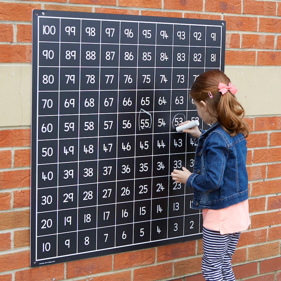 100 square outdoor chalkboard