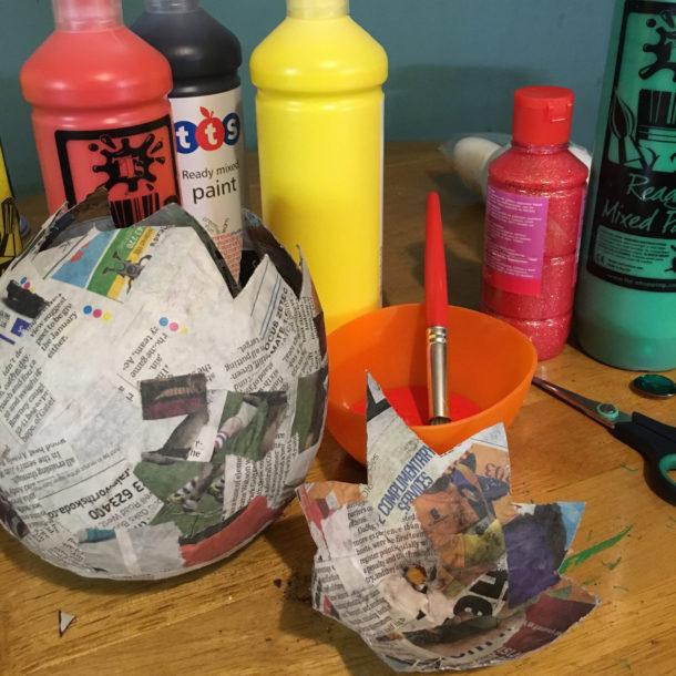 papier mache egg 4