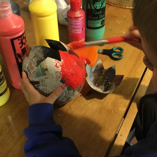 papier mache egg 5