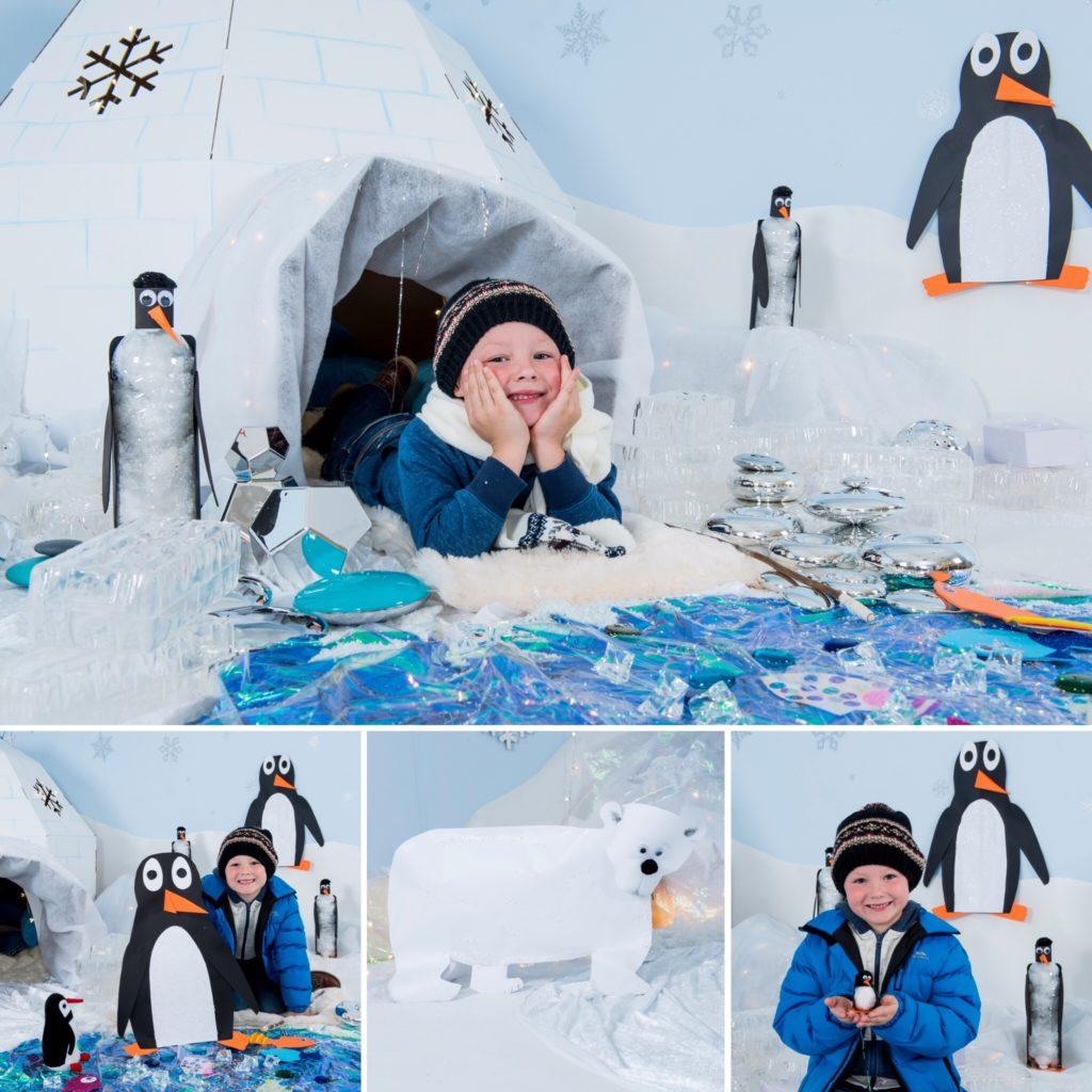 Christmas scene - antarctic frozen classroom display