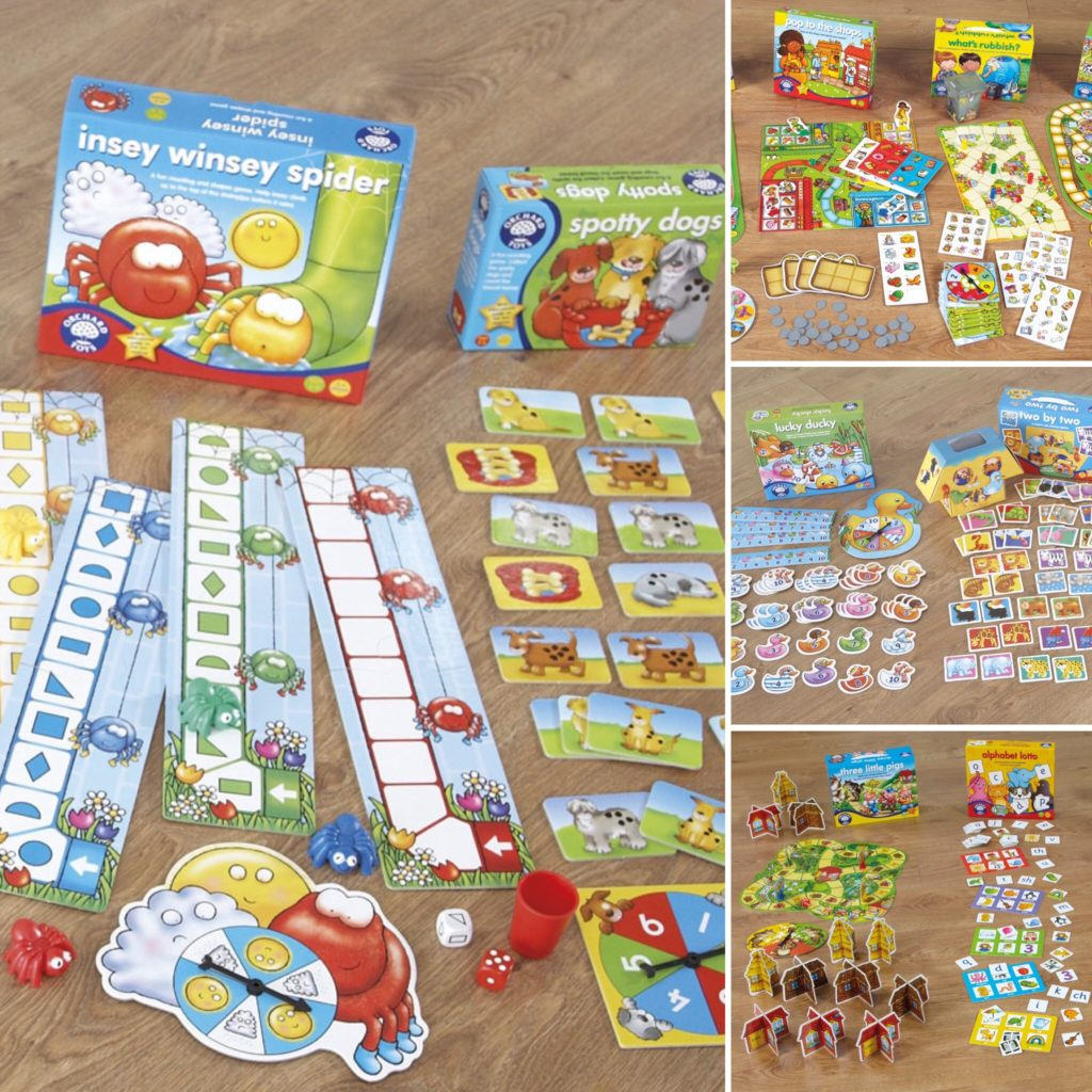Orchard toys games and jigsaws