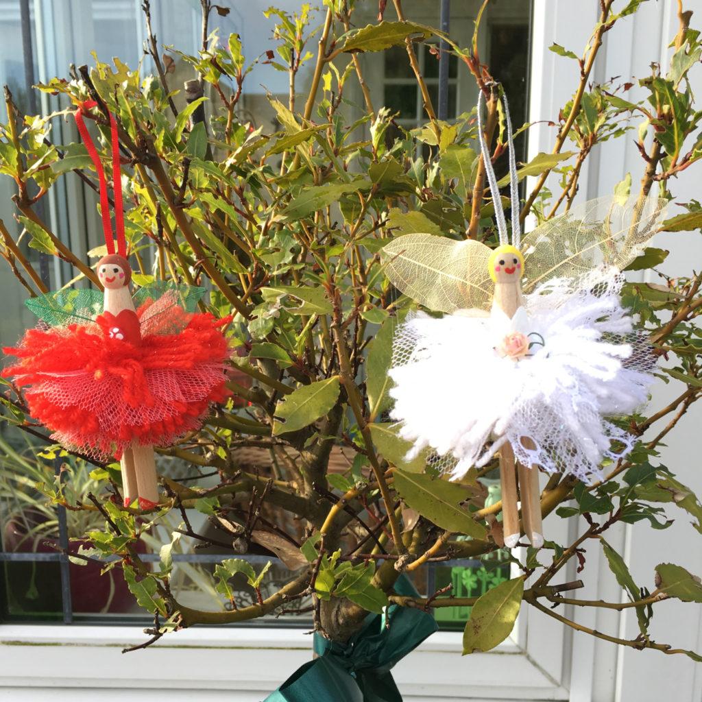 pom pom peg doll fairy craft - christmas by Lottie Makes