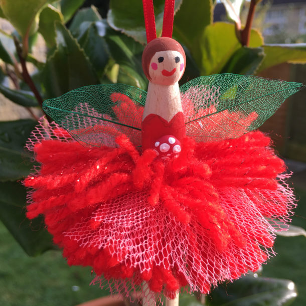 pom pom peg doll fairy