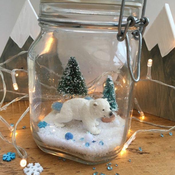 Polar Bear Christmas Jar by Lottie Makes