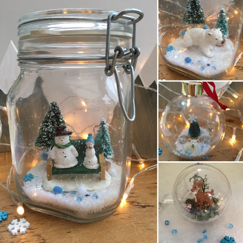Christmas jar and bauble craft