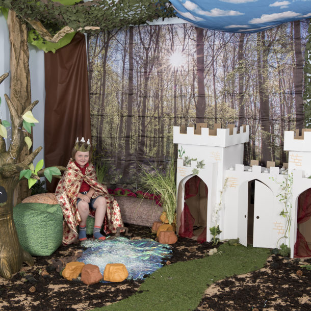 Castle woodland themed learning location