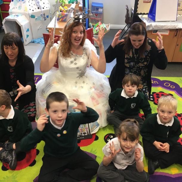 The Phonics Fairy and children.