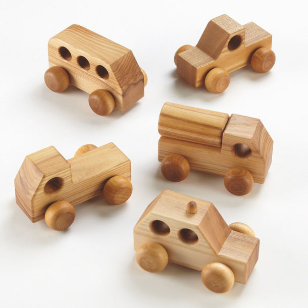 mini wooden vehicles