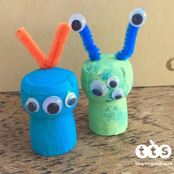Alien cork characters