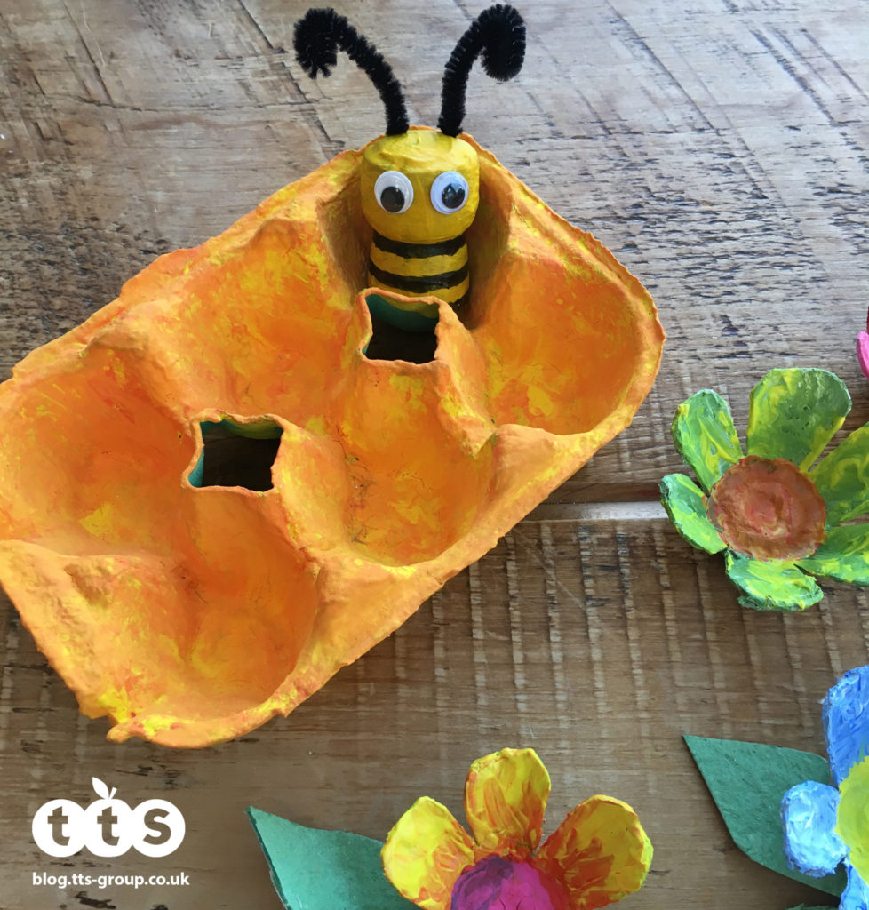 Bee and hive cork characters by Lottie Makes