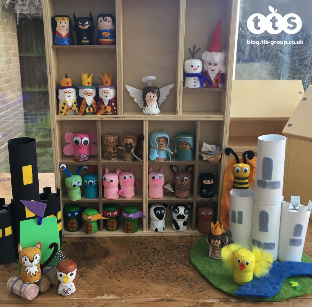 Cork crafts characters by Lottie Makes