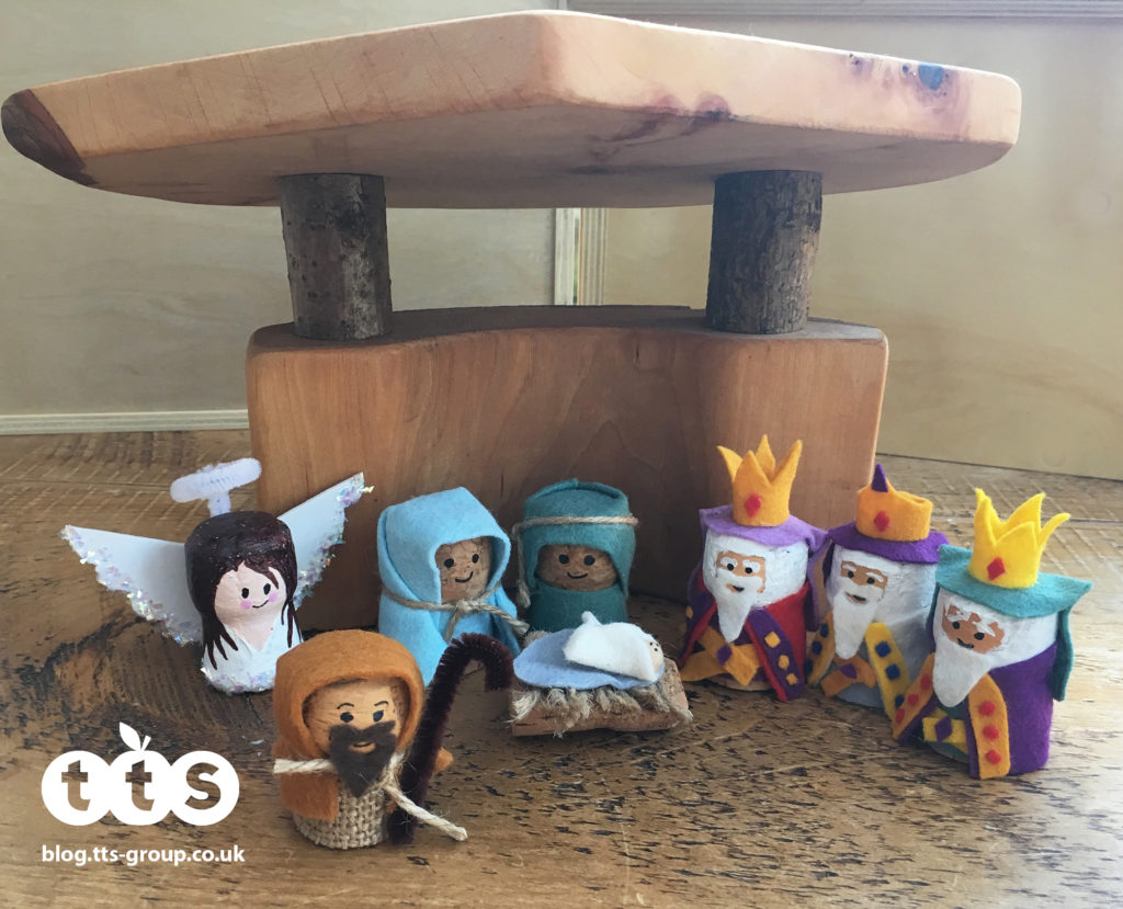 Nativity cork characters by Lottie Makes