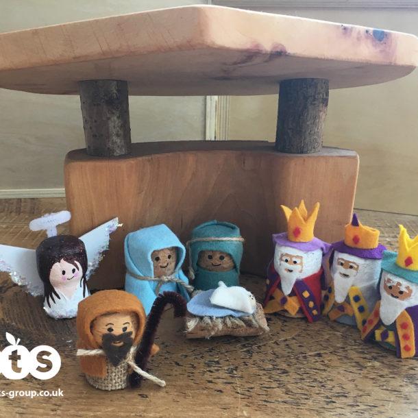 Nativity cork characters