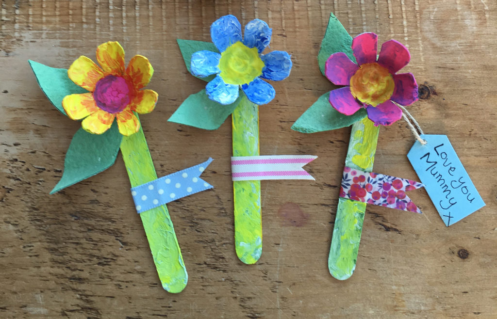 egg box mothers day flowers craft