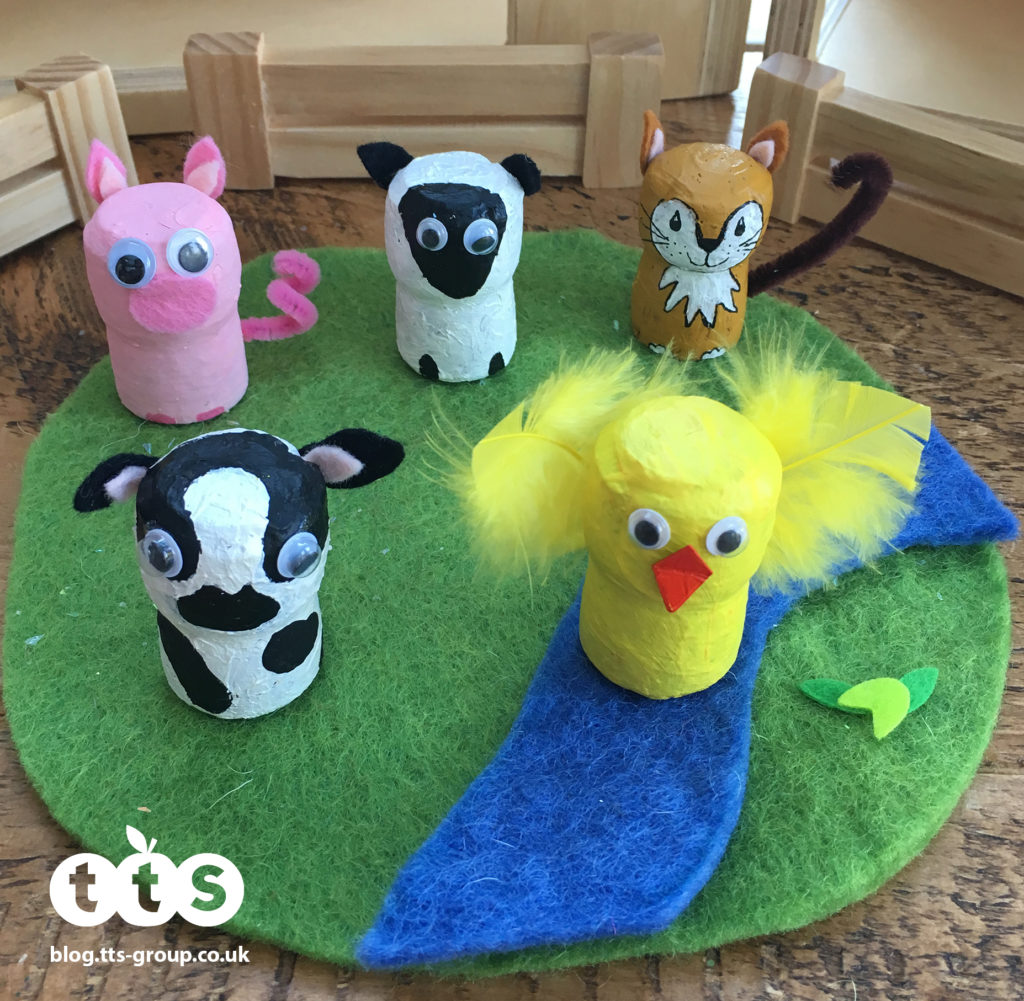 farm animal cork characters by Lottie Makes