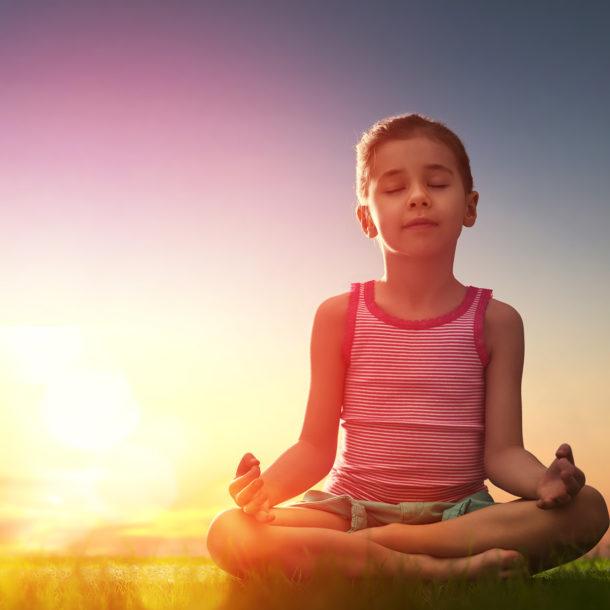 meditating child