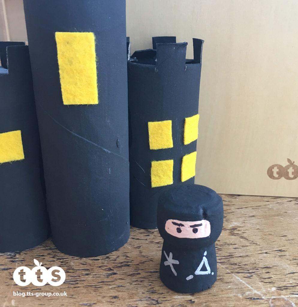 ninja cork character by Lottie Makes