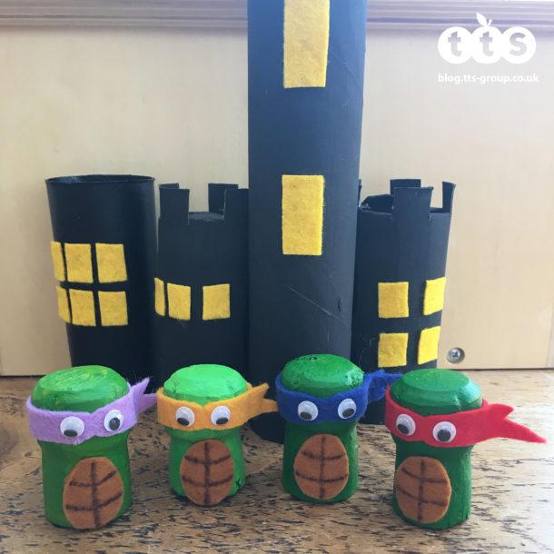 ninja turtles cork characters by Lottie Makes