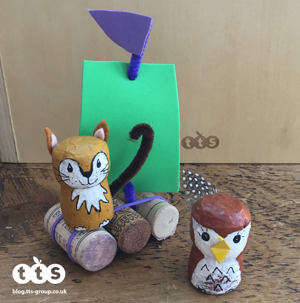 owl and the pussy cat cork characters by Lottie Makes