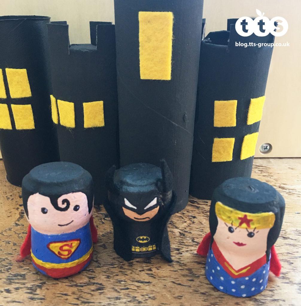 superhero cork characters by Lottie Makes