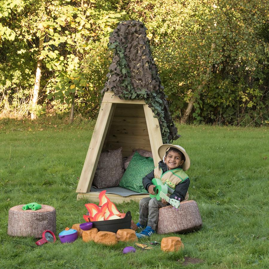 outdoor teepee