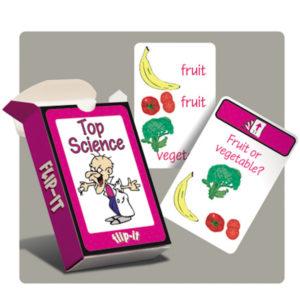top science flip it cards